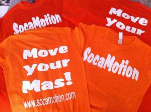 "Socamotion ""Move Your Mas"" tshirt in orange"